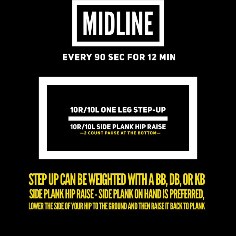 add 5-10# to last week's step up.
