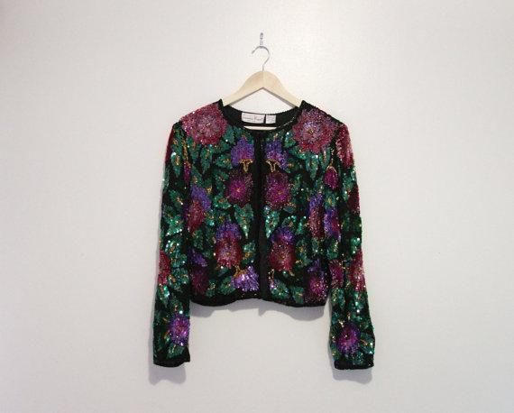 Floral Henderson Sequin Jacket$40