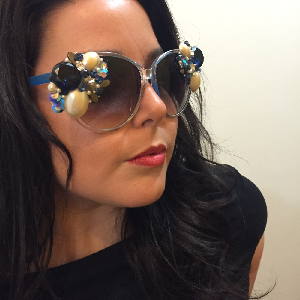 Ange Rocking her Custom Smart Glamour & HOC Sunnies