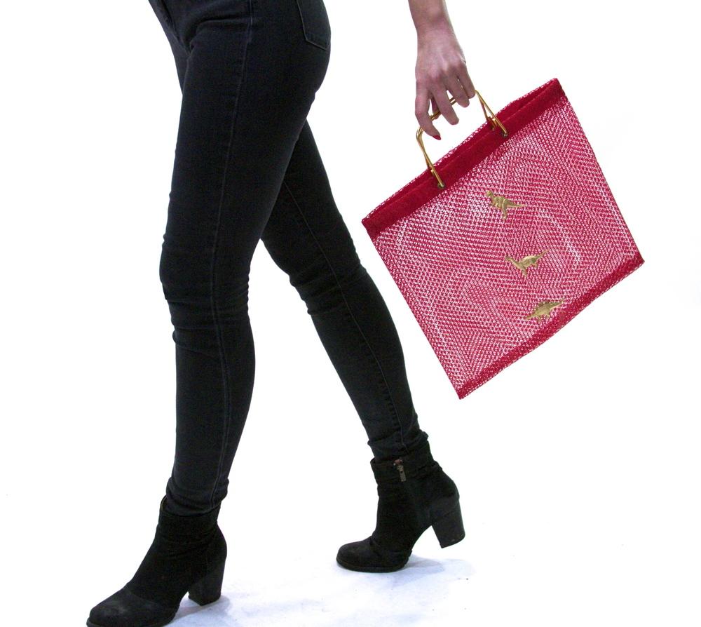 Glamosaur Mesh Tote   $22