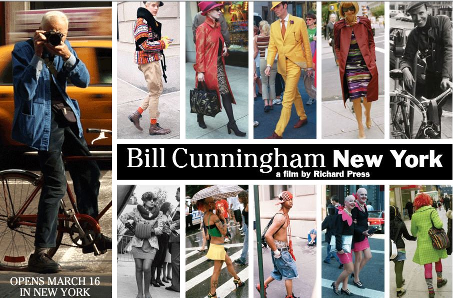 Totally inspirational movie about NYC icon and the original street style photog Bill Cunningham.