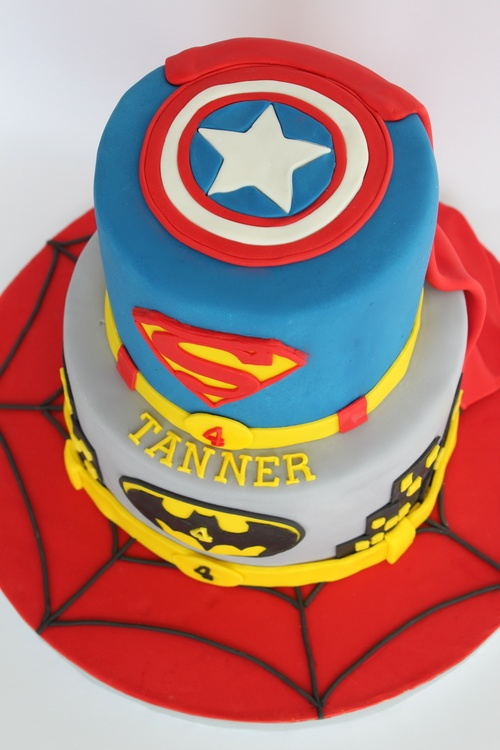 Superhero Birthday Cake Village Cakecraft
