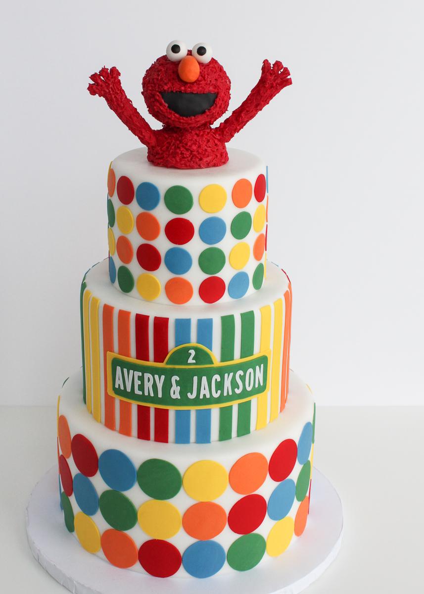 Elmo Sesame Street Cake Village Cakecraft Jpg 857x1200