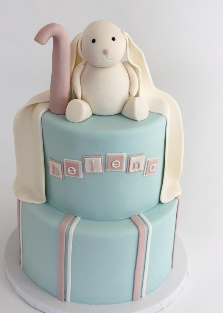 Sweet Bunny Birthday Cake Village Cakecraft