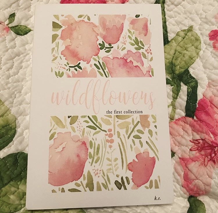 """When your friend releases her first collection of poetry and the cover matches your bed, you know it was meant to be! But for real, she puts words to the feelings that are in my heart. Katherine, thank you for gifting the world with your words!"" Charissa"
