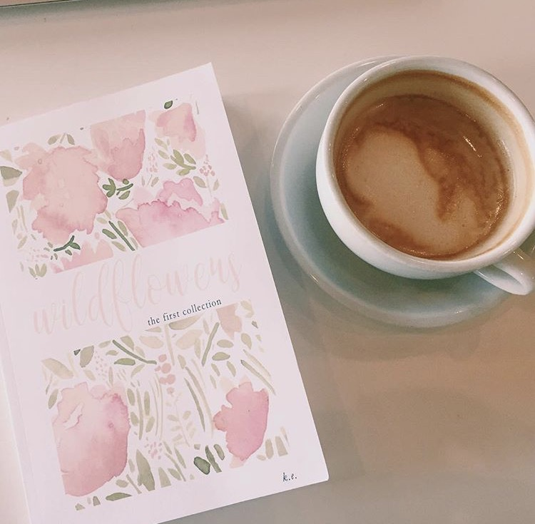 """wildflowers + a latte = the most perf afternoon EVER!"" Jules"