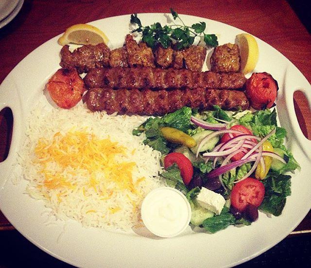 Lamb barg and koobideh combo. 😋 #parspersiancuisine #PersianFoodOfAz #PersianFood #Kebobs #Food #basmatiRice #Saffron