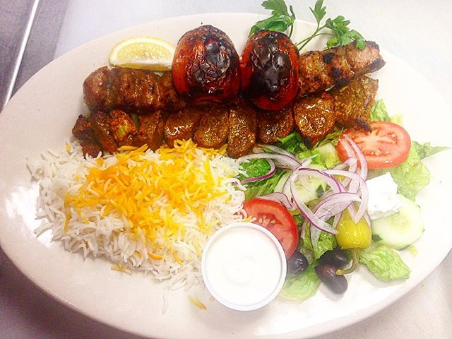 A Persian dish to brighten up your Saturday! #ChengehSultani #Sultani #filetmignon #ParsPersianCuisine #PersianFood #Persian #Iranian #BeefOnBeefOnBeef #Protein #Pars