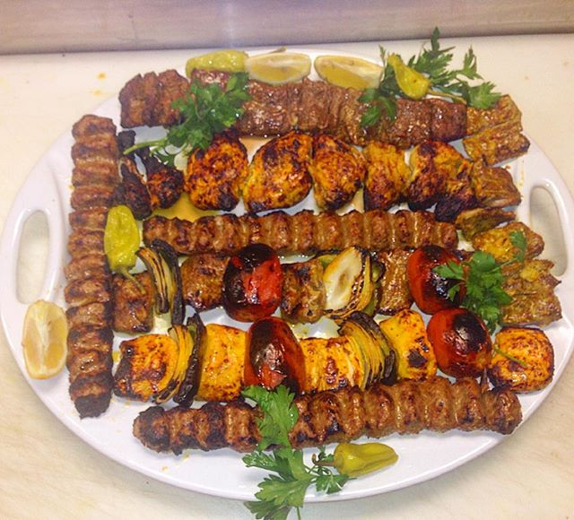 Family style Kebob combination per request for parties of 4 or more. #parspersiancuisine #persianfood #Persian #Kebobs #Iranianfood #Iran