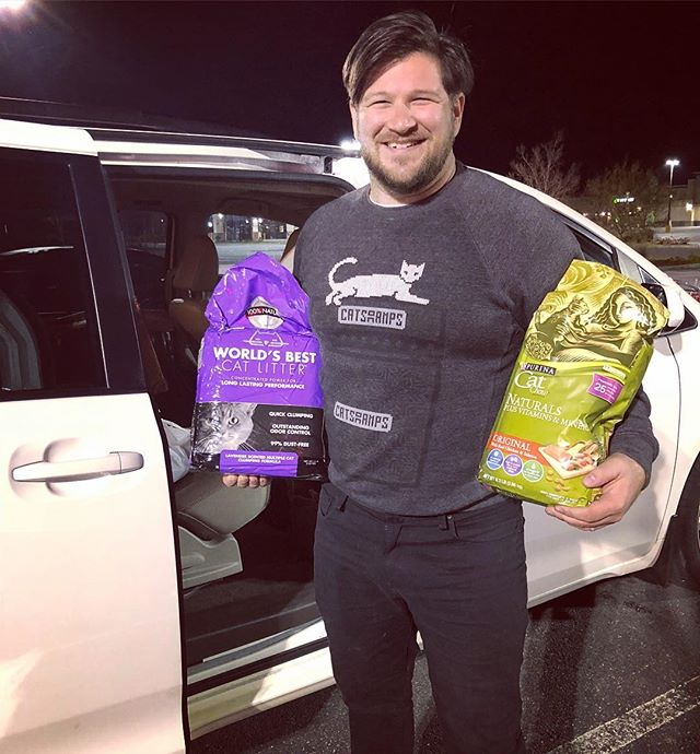 Proud Cat Dad. #vanlife #catdad #cats #kitty #target #worldsbestcatlitter #purinacatchow