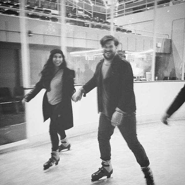Ice skating with the lady. #ice #icecoldbaby #coupleskating #tonyaharding