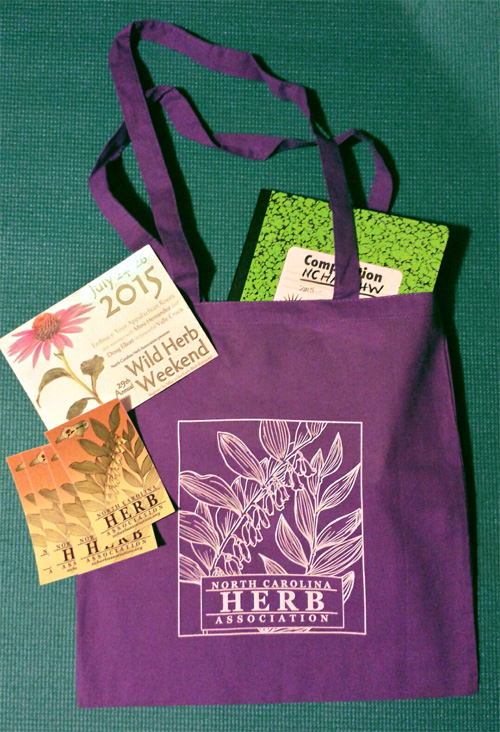 These are the bumper stickers and tote bags that I designed for our event. This was the first time NCHA had offered a bag to attendees in many years. They were a hit!