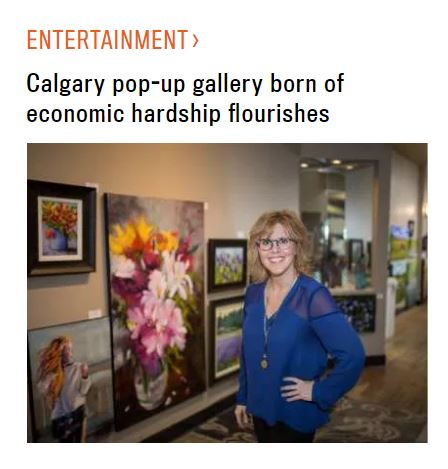Calgary pop-up gallery born of economic hardship flourishes, Calgary Herald - December 16, 2016