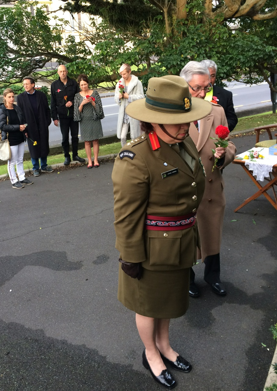Colonel Louisa O'Brien, NZDF, ANZAC Day morning, St David's, 2016