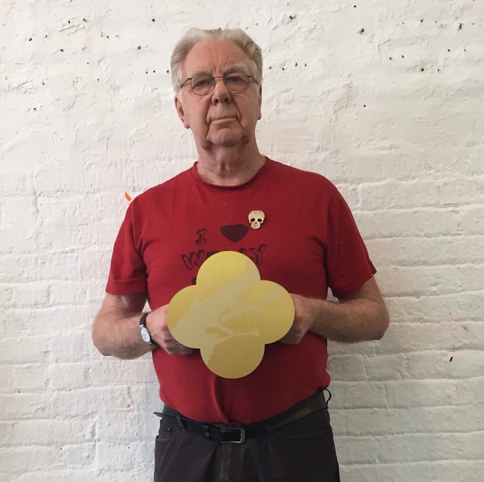 Max Gimblett in his studio. The Bowery, NYC