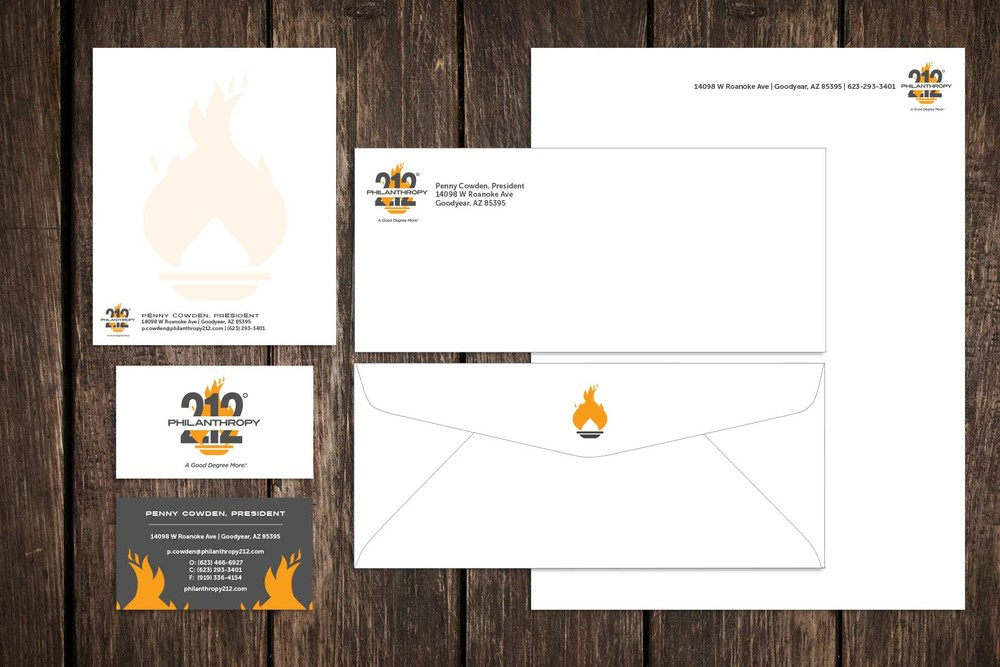 Philanthropy 212 - Note Card, Business Card, Envelope, Letterhead