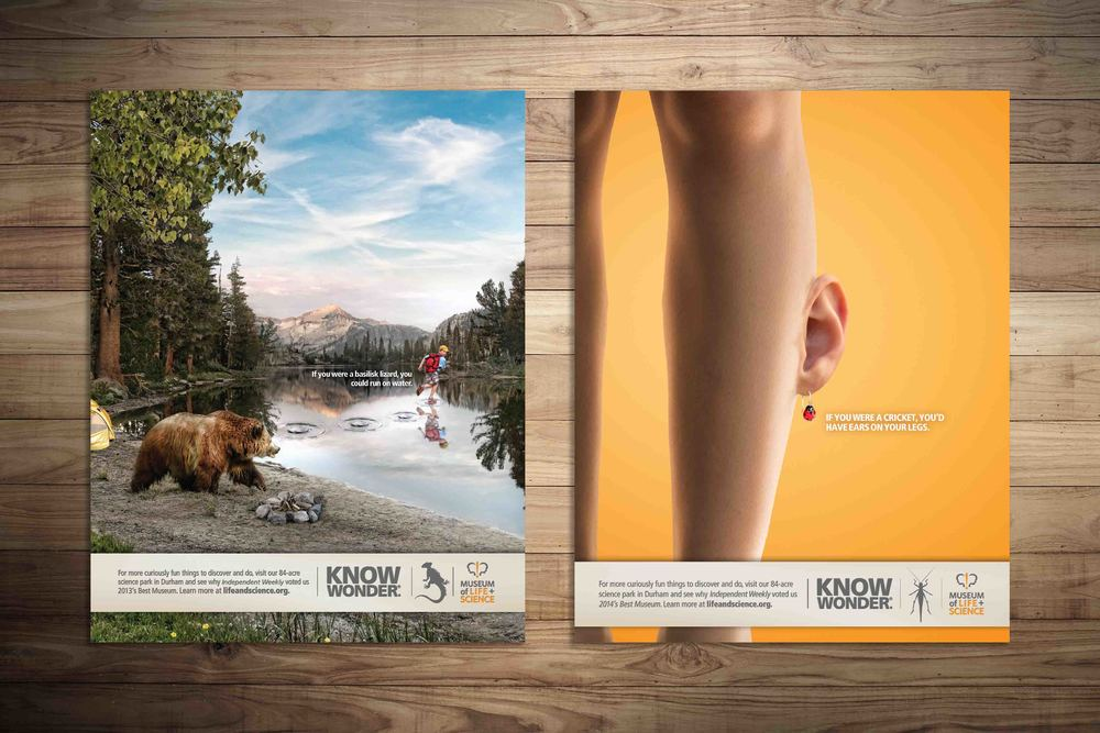 Magazine print for The Museum of Life + Science.See the integrated campaign and case study  here .