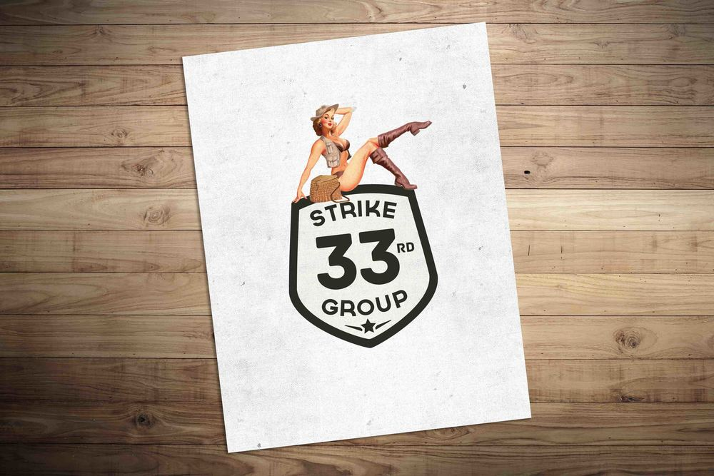Logo for 33rd Strike Group.See the integrated campaign and case study  here .