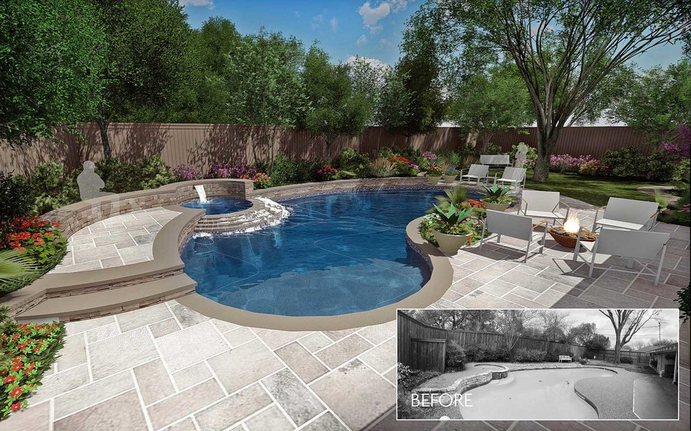 RENOVATION & REPAIR - Have an older pool that is leaking, cracking or just needs and updated look? We can help transform & revive your existing pool by providing structural and aesthetic repairs, adding new tile and coping materials along with updated and efficient equipment. Save thousands of dollars by renovating your existing pool and water features.
