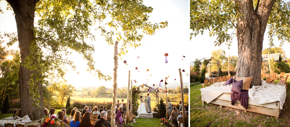 The arbor ceremony site. Photos courtesy of  Genevieve Leiper Photography  .