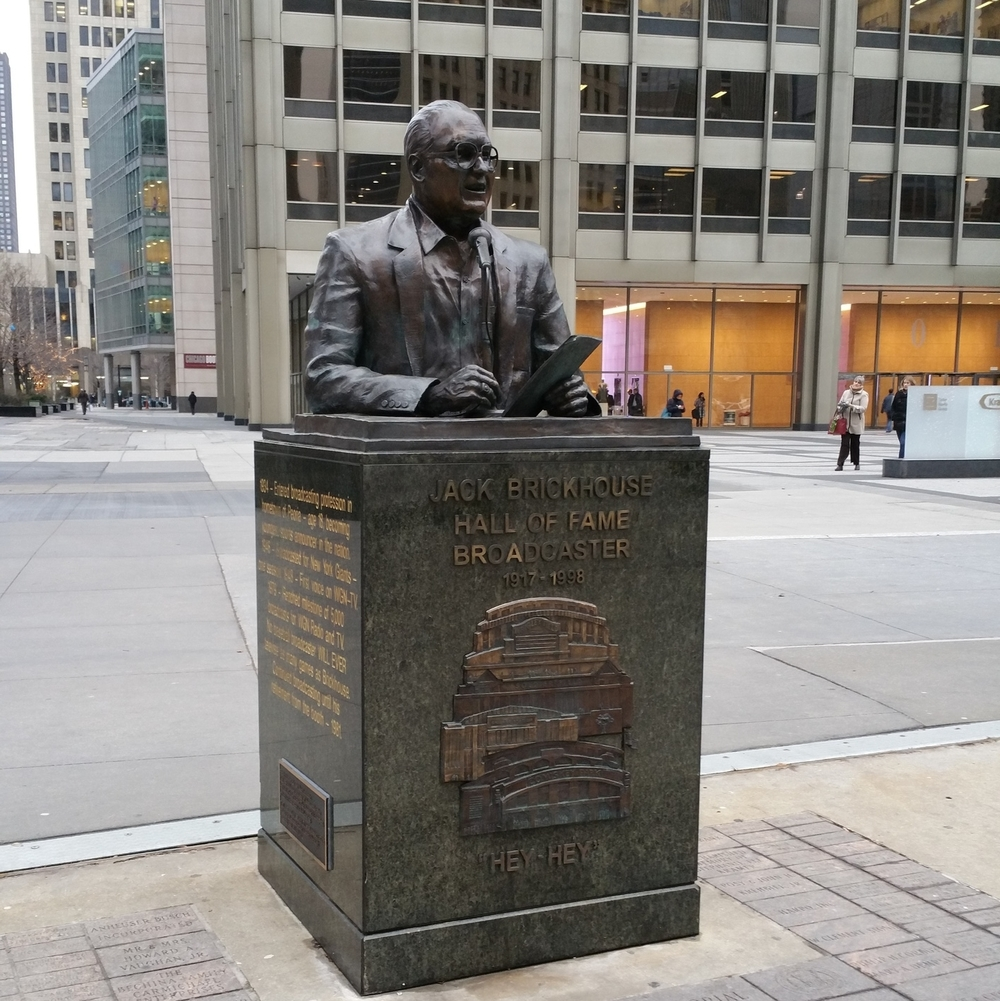 Jack Brickhouse - HonoraryChicago. Sports Broadcaster.