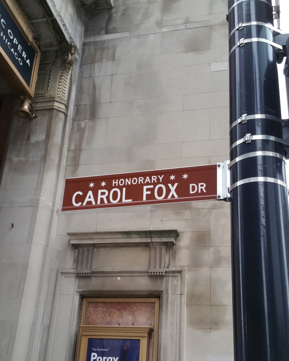 Carol Fox Dr - Honorary Chicago. Director of Lyric Opera Company