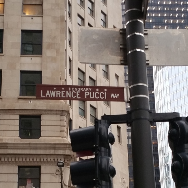 Lawrence Pucci Way - HonoraryChicago.  Tailor to the Stars.