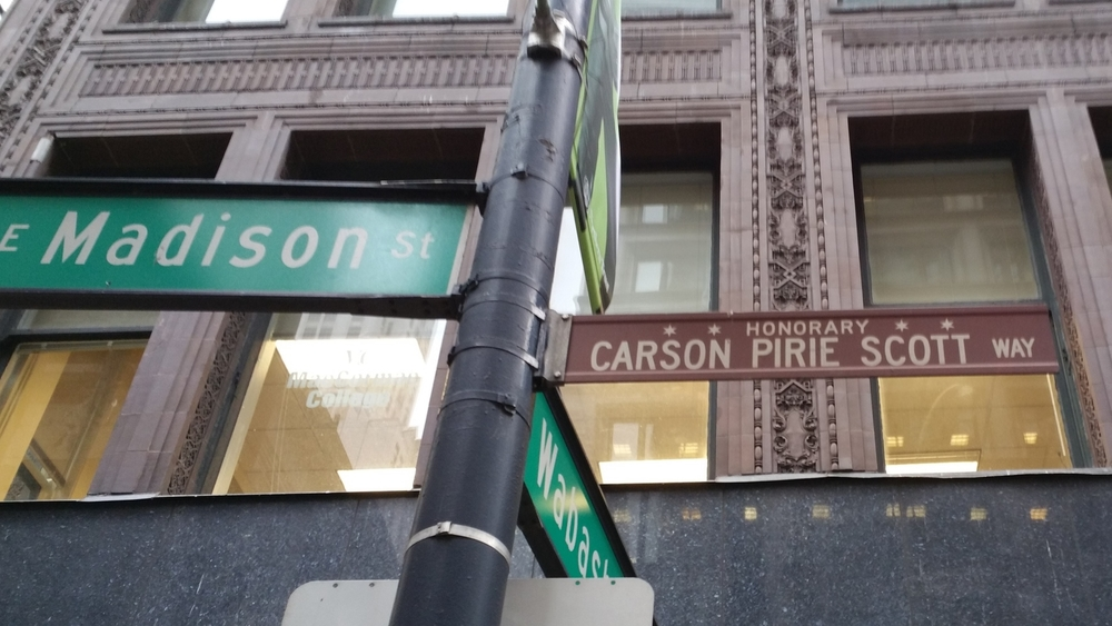Carson Pirie Scott Way - HonoraryChicago. Architecturally Historic Department Store