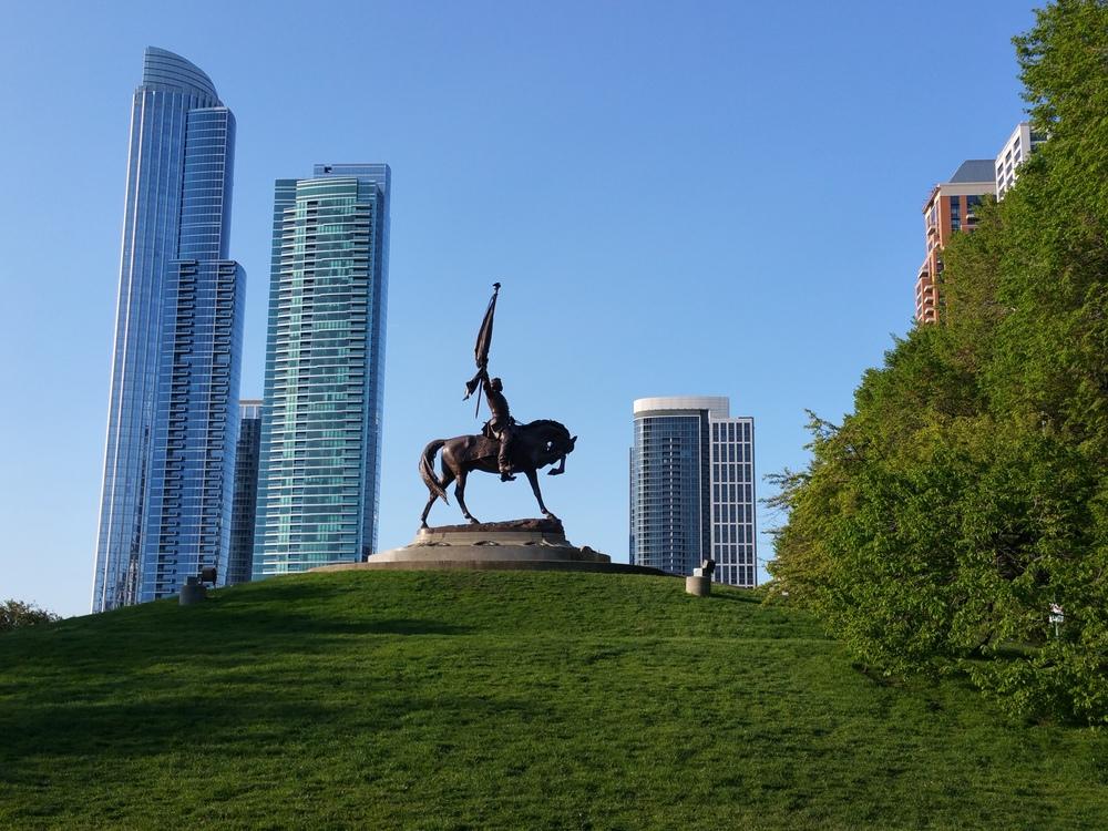 John A. Logan equestrian statue in Grant Park, Chicago