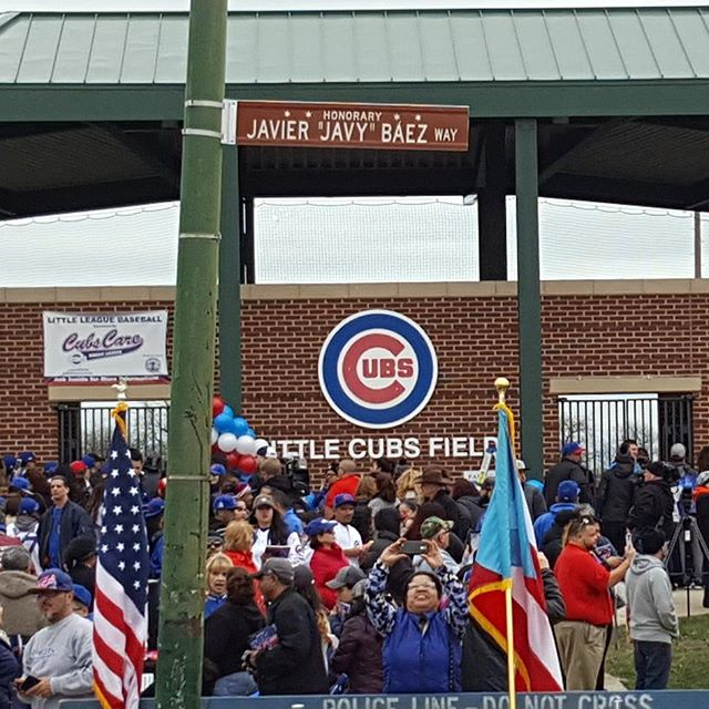 Dedication of Javier 'Javy' Baez Way in Chicago on April 11, 2017