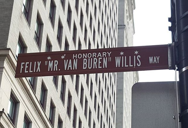 Who is Felix Willis? It's not the Tower. Please tell me. Free gift for proof of who. Van Buren St at Michigan Avenue