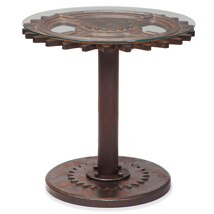 steampunk end table steampunk tables theatre props kretschmer kreativ 694