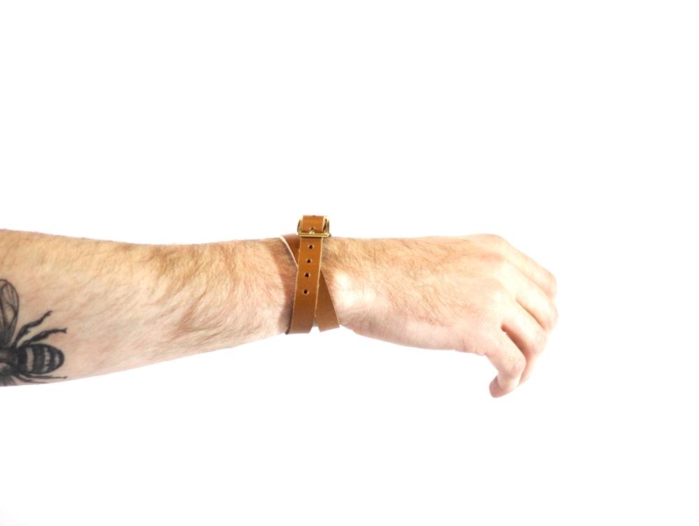 Double Wrap Bracelet in Horween : $42