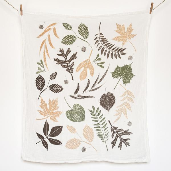 Leaf Pile Towel by June & December, Made in Michigan