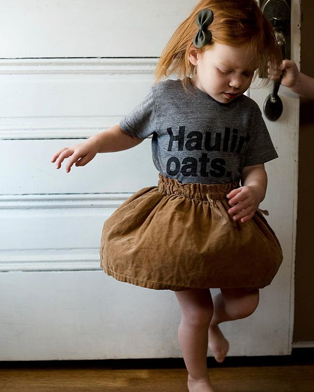 This shirt should get an A for accuracy. She had oatmeal for breakfast. #haulinoats #hallandoats #noryive #2yearsold