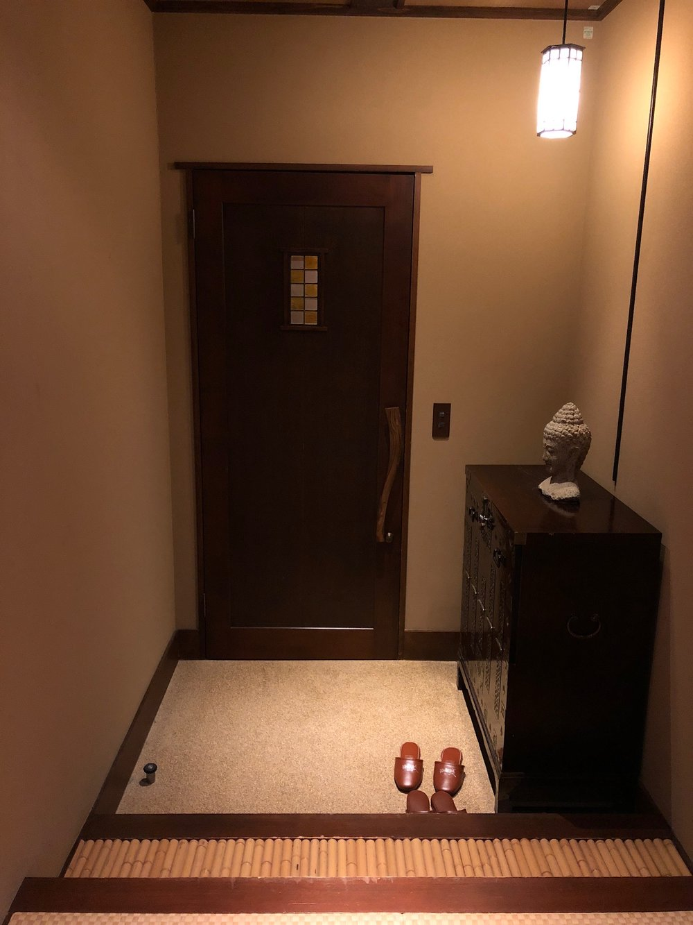The quaint entryway to our ryokan suite.