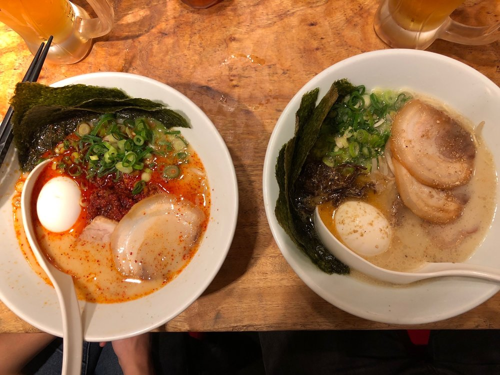 "GLORIOUS IPPUDO! Although there was a line, our visit to Ippudo felt like it was over before it began. Within 15 minutes of sitting down, we drank our Asahi and slurped our ramen (spicy for Al, classic for Steve), and emerged back in the alley, full and bleary-eyed. ""I think that was the best ramen I've ever had."""