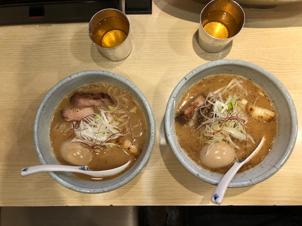 We looked up a local ramen joint not far from Before 9 which was a good bit of distance away from the tourist core where we were staying. One chef spoke near perfect english as he begrudgingly explained how to order from the vending machine before sitting down. The ramen was excellent!