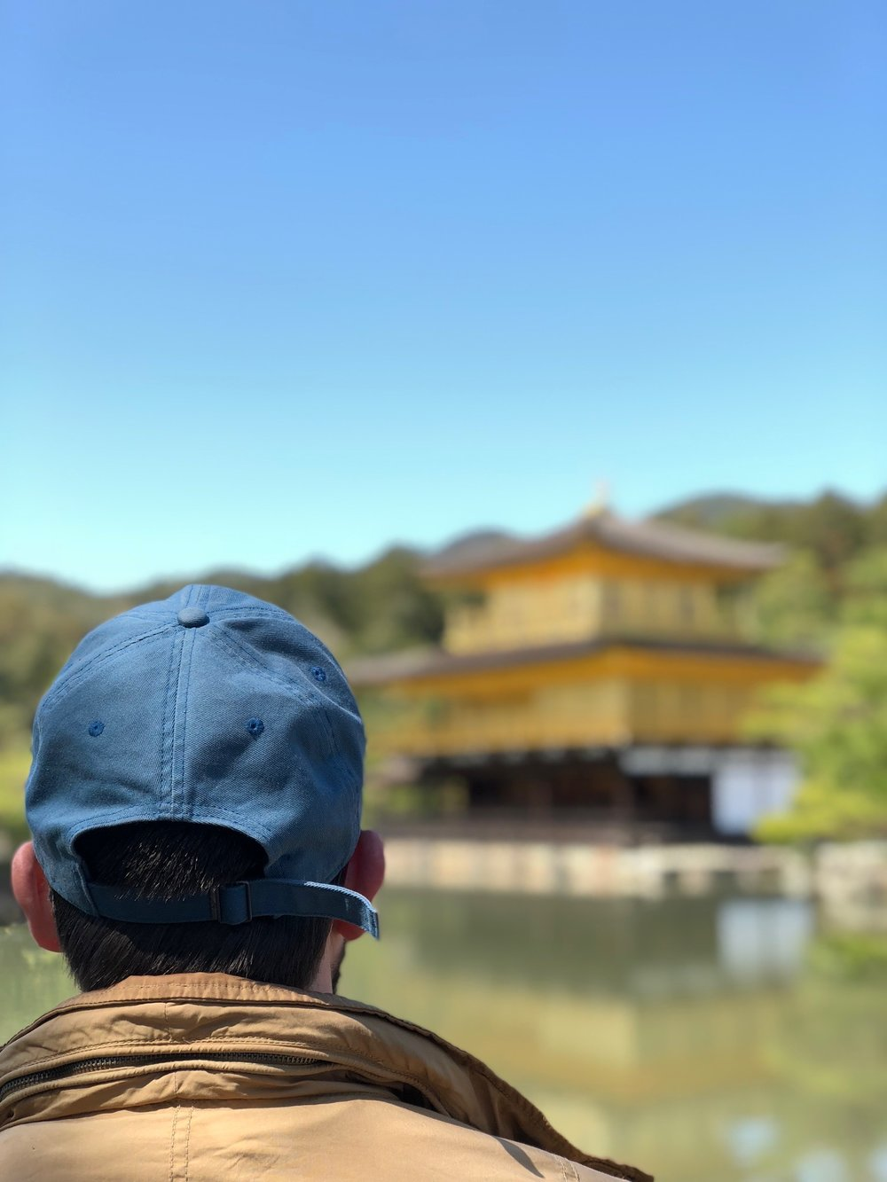 Steve looks on at the awe-inspiring Kinkaku-ji on our second day in Kyoto. Unlike our rainy first full day, we couldn't have asked for better weather.