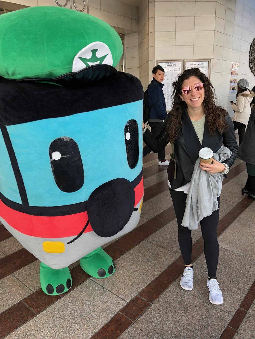Al made friends with the Kyoto Metro mascot as we were hustling to our next bus ride.