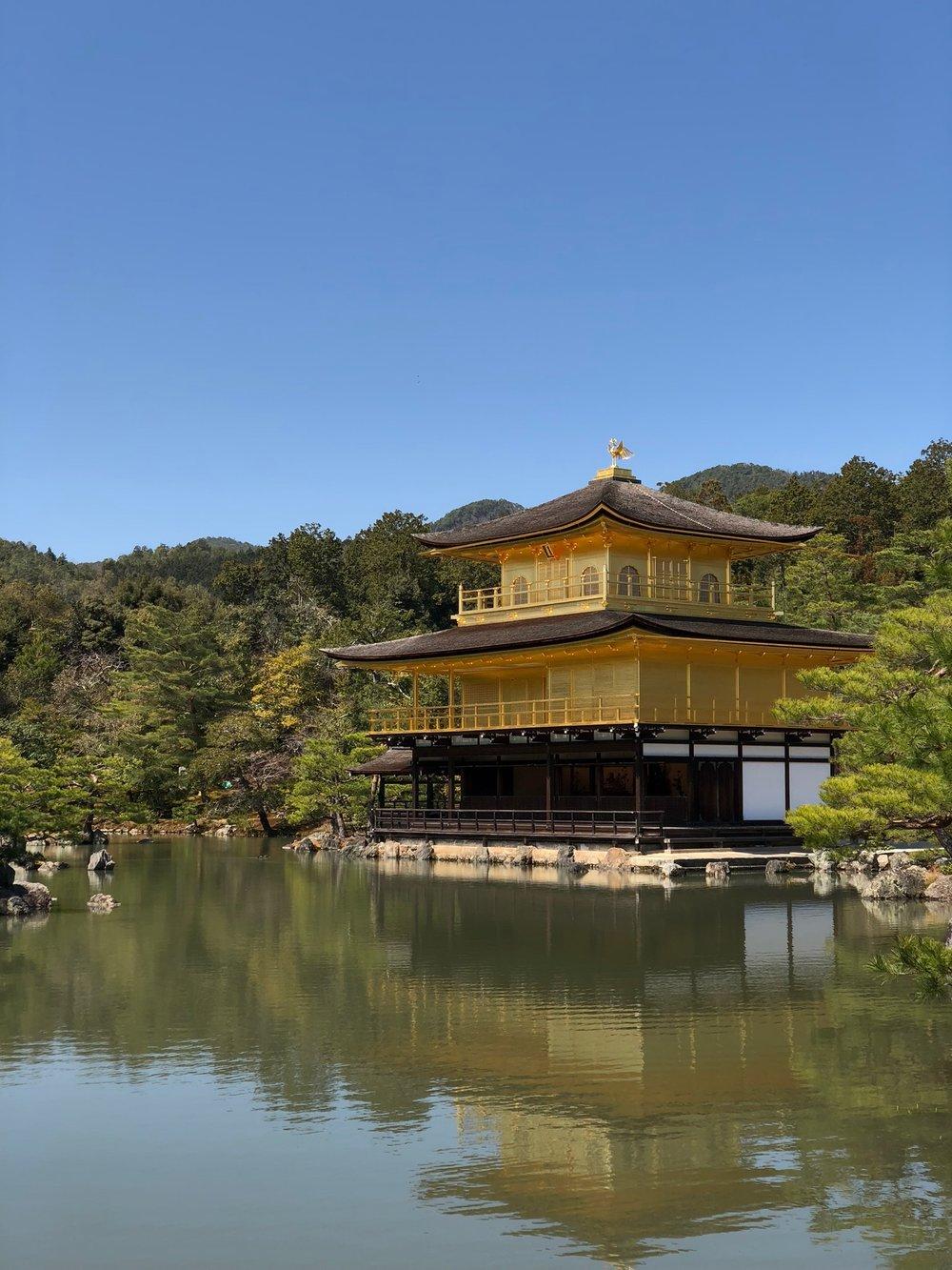 Kinkaku-ji in all its golden glory.