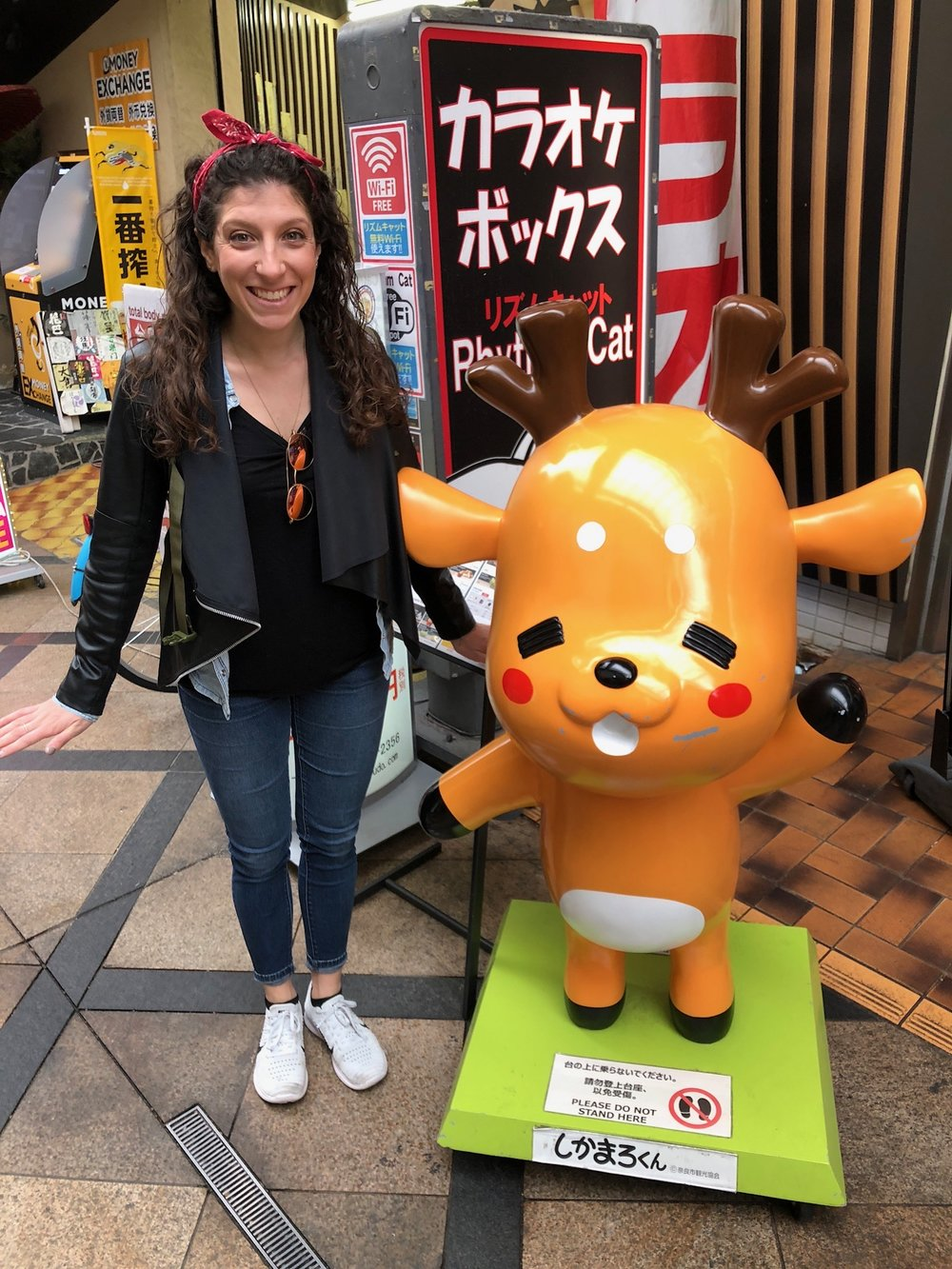 Characters like this are all over Japan, welcoming customers into shops and restaurants.
