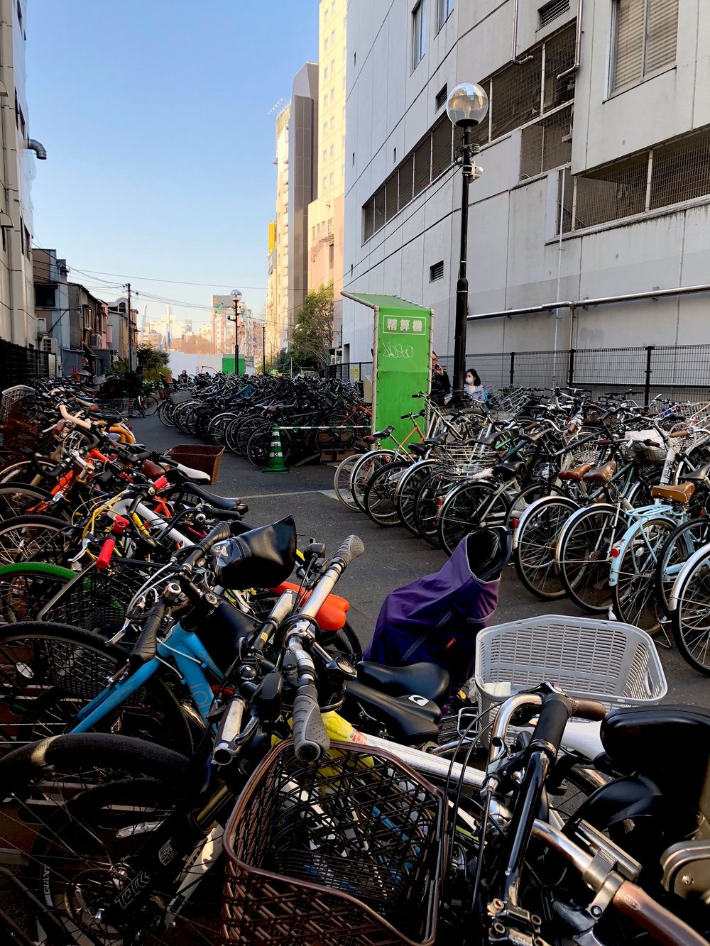 Near Shibuya Crossing, we had never seen so many bikes parked somewhere before - most without any locks!