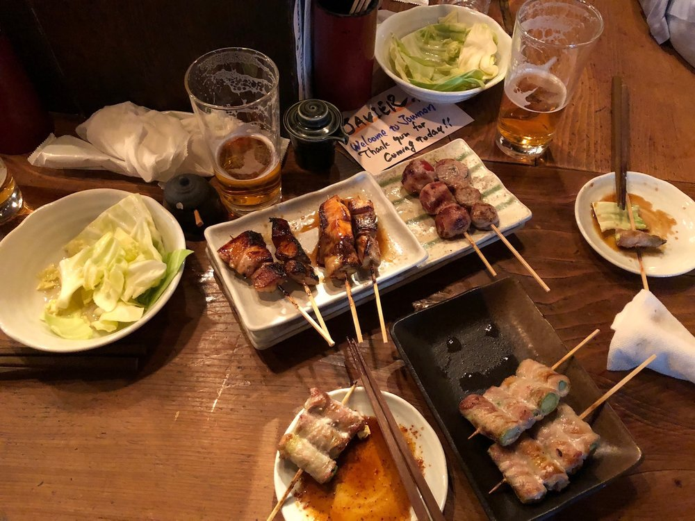 Some of the yakitori we got to enjoy with Antje and Dave