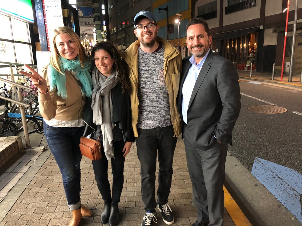 Photo with Antje and Dave - they made us feel extremely welcome, showed us a great time, and gave us some interesting perspective on what its like to be Americans living in Tokyo!