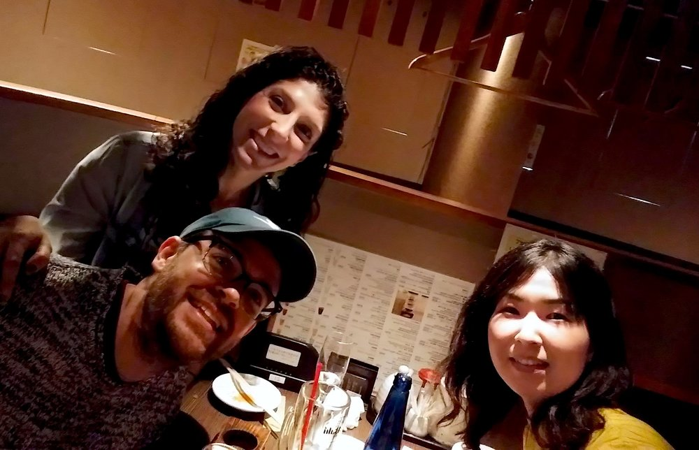 A selfie with Noriko, our really awesome and humble tour guide and sake expert!