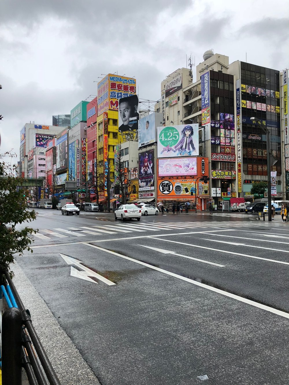 On our 2nd day back in Tokyo it was raining a bit in the morning. We started by exploring the northeastern part of the city, specifically an area known for its multi-story electronics stores and arcades called Akihabara.