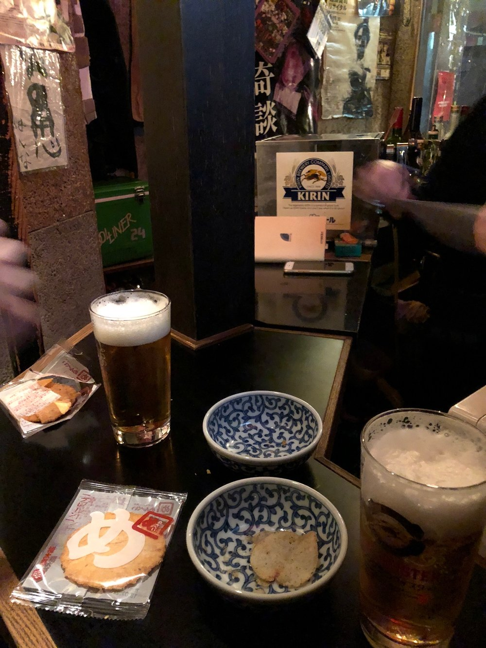 Inside the Pink Floyd bar in Golden Gai.