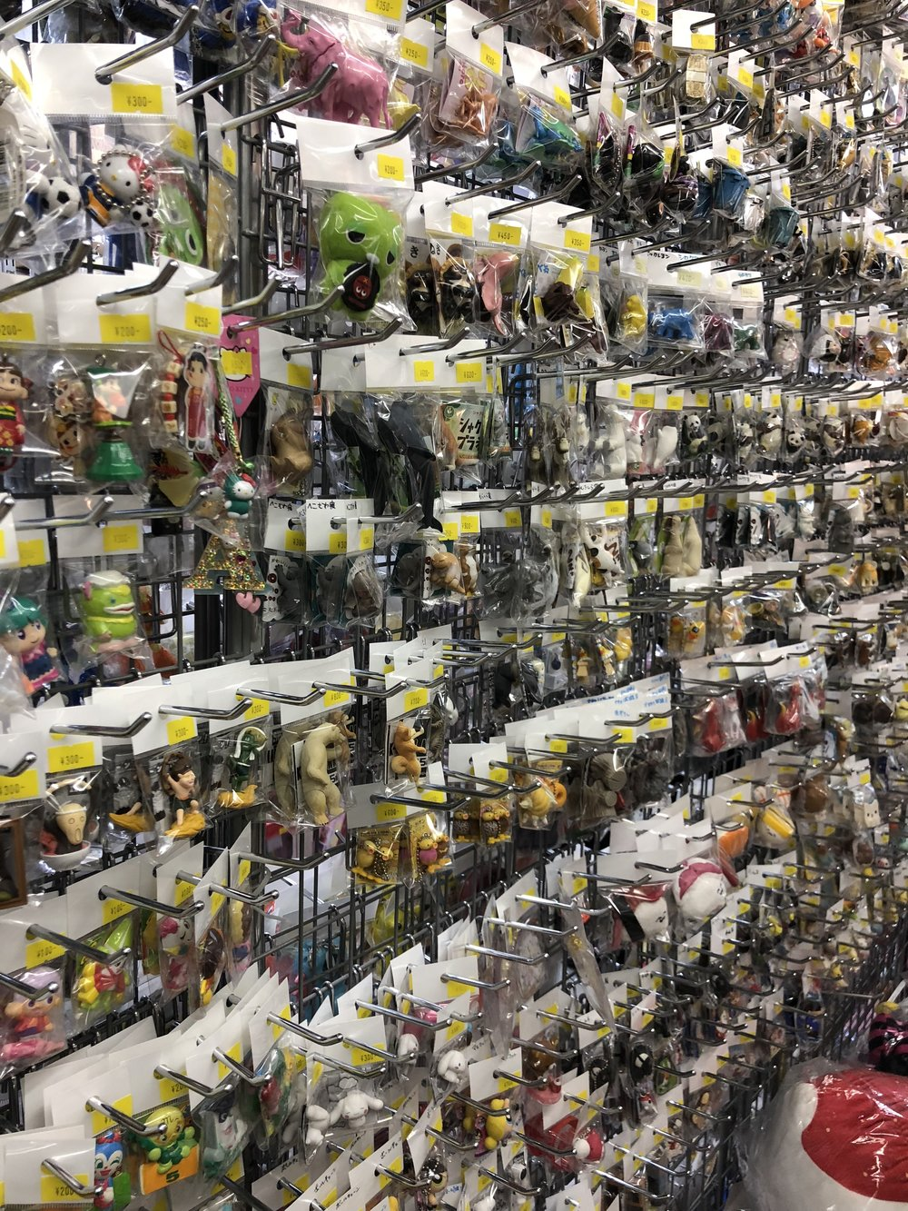 Thousands upon thousands of collectible small plastic toys at Nakano Broadway.