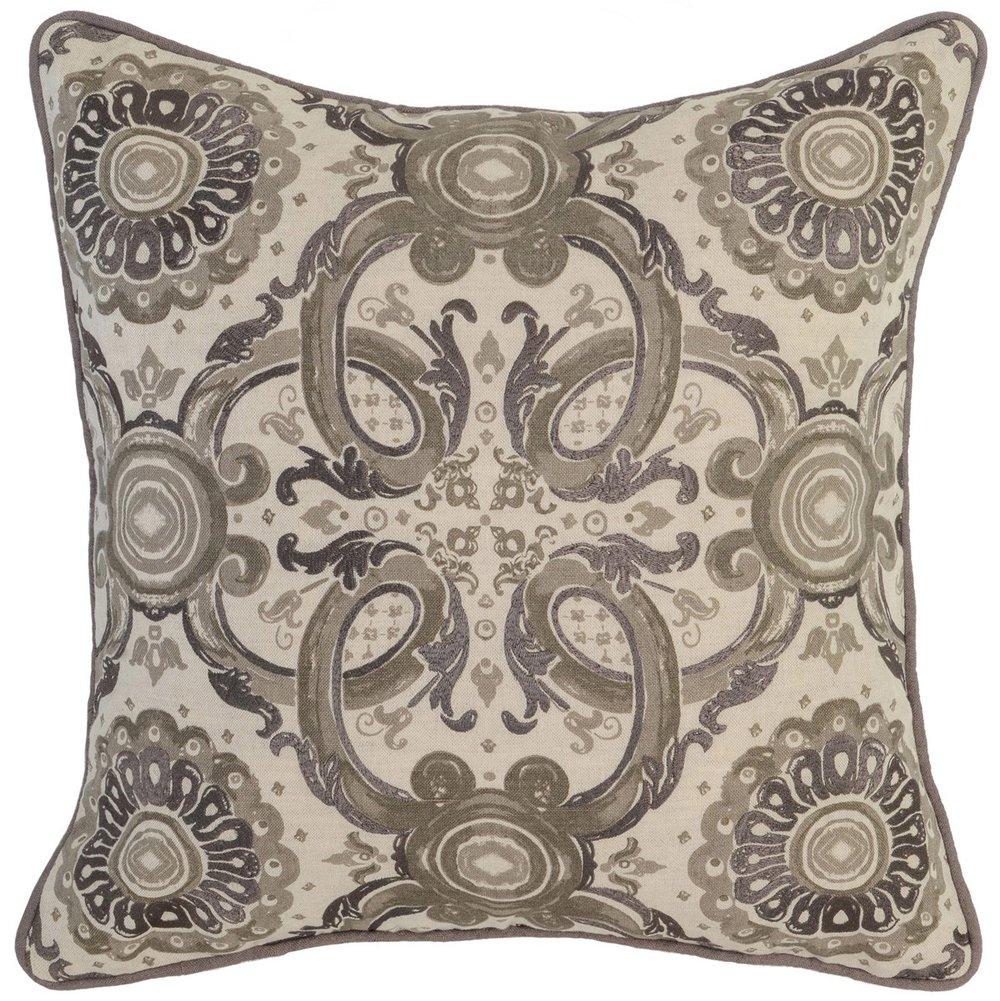RE Grandeur Taupe 18x18 pillow